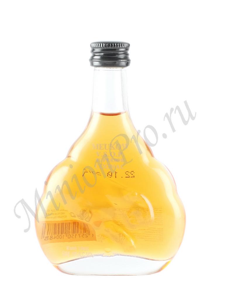 Миньон коньяк Meukow VSOP шкалик Меуков ВСОП коньяк мини бутылка