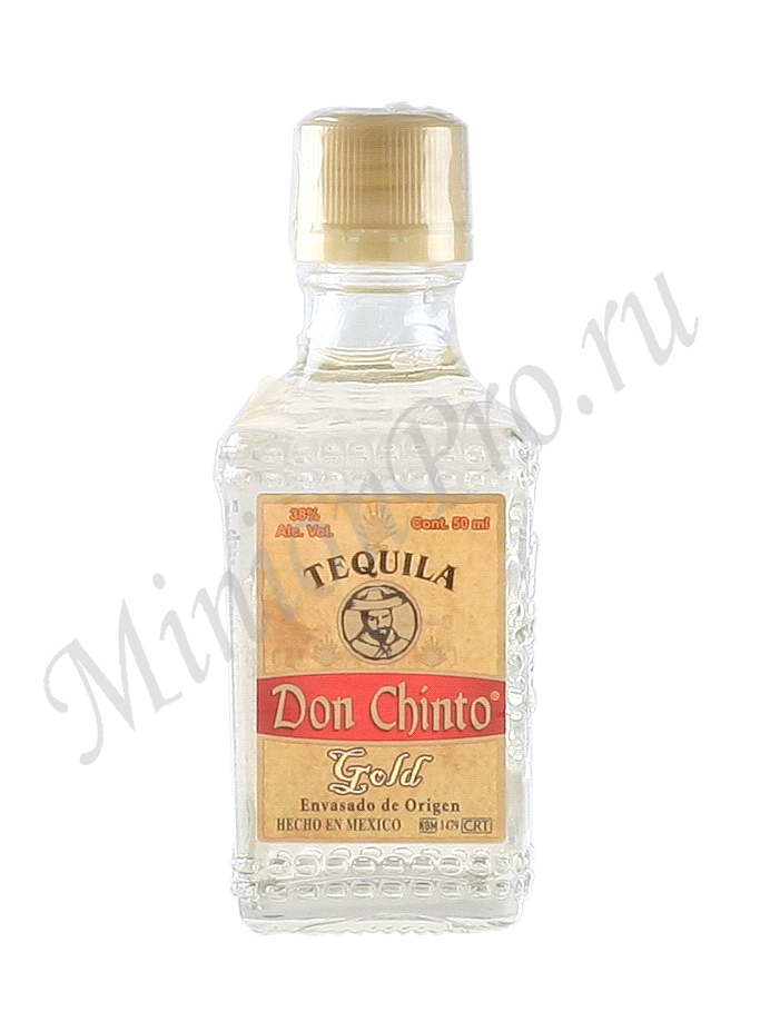 Миньон текила Don Chinto Gold шкалик Дон Чинто Голд текила мини бутылка