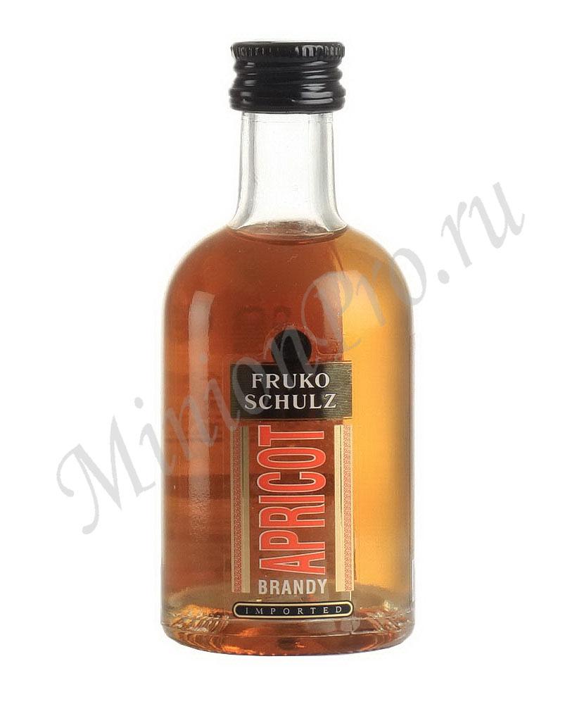 Миньон Fruko Schulz Apricot Brandy ликер шкалик Фруко Шульц Абрикос Бренди ликер мини бутылка