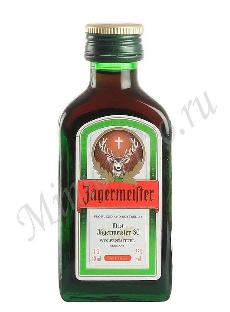 Миньон ликер Jagermeister 40 ml шкалик Егермейстер 40 мл мини бутылка