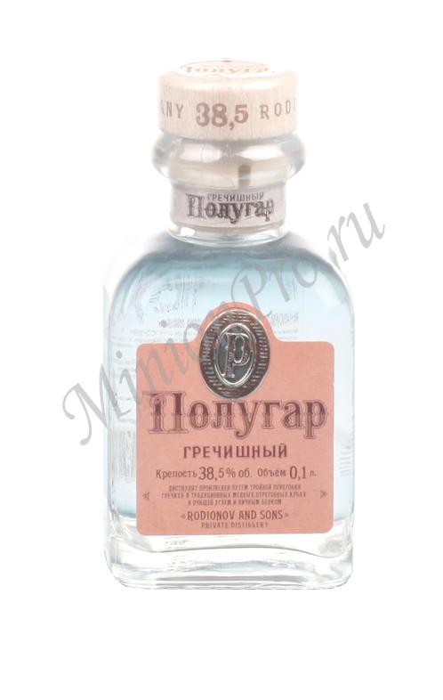 Миньон Полугар Гречишный водка шкалик Polugar мини бутылка