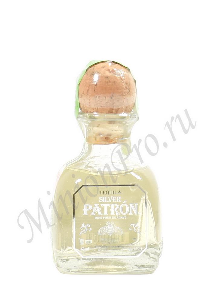 Миньон Patron Silver текила шкалик Патрон Сильвер текила мини бутылка
